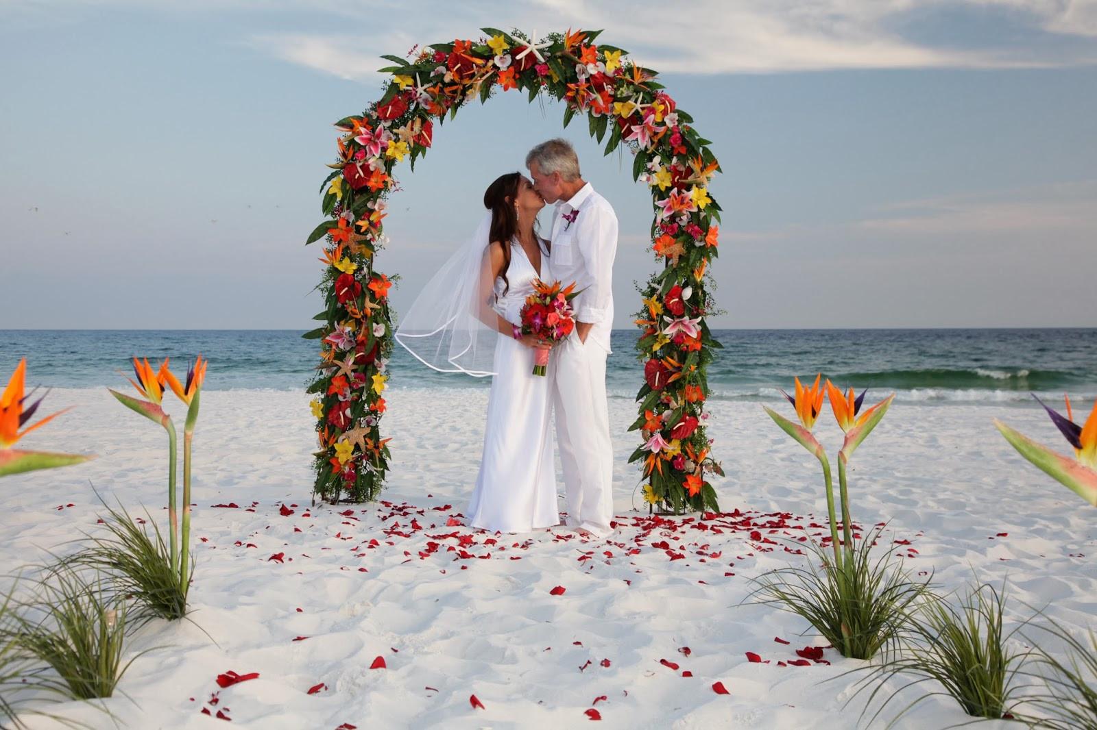 Beach Weddings Florida  Florida Barefoot Beach Weddings