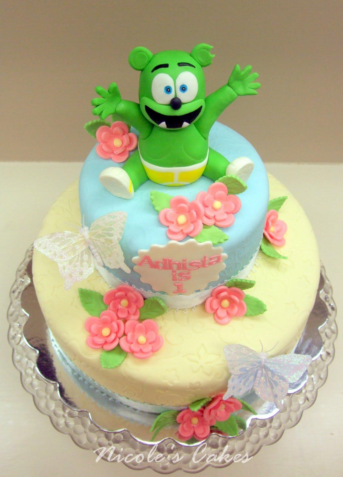 Bear Birthday Cake  Birthday Cakes Gummy Bear 1st Birthday Cake