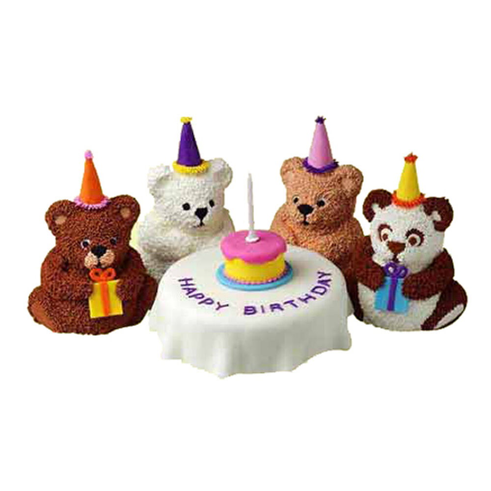 Bear Birthday Cake  Bear s Birthday Mini Cakes