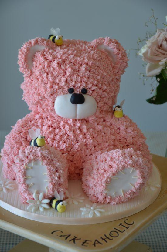 "Bear Birthday Cake  ""Great "" Deep South Recipes 3D Teddy Bear Cake"