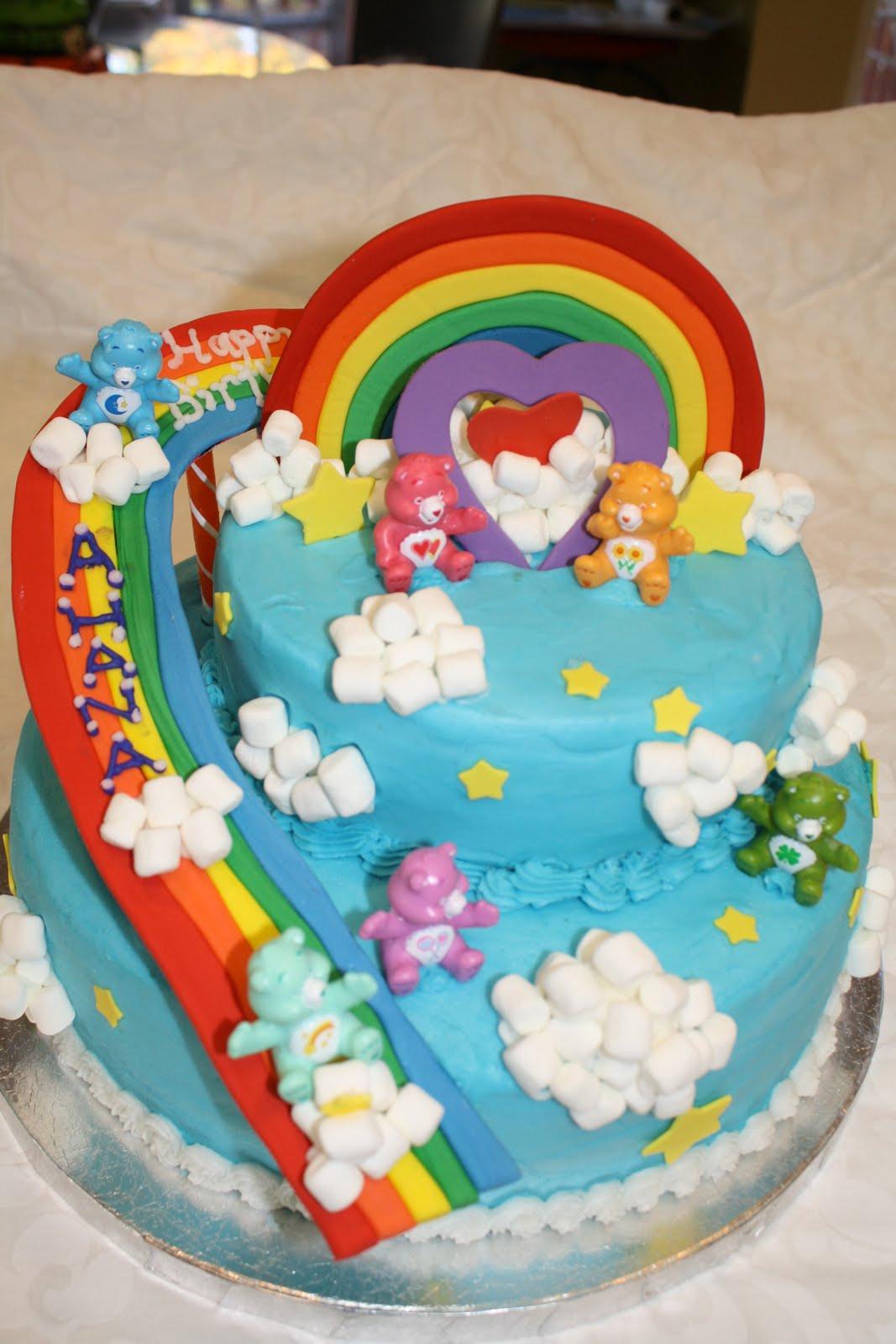 Bear Birthday Cake  Cakelicious Care Bears Birthday Cake