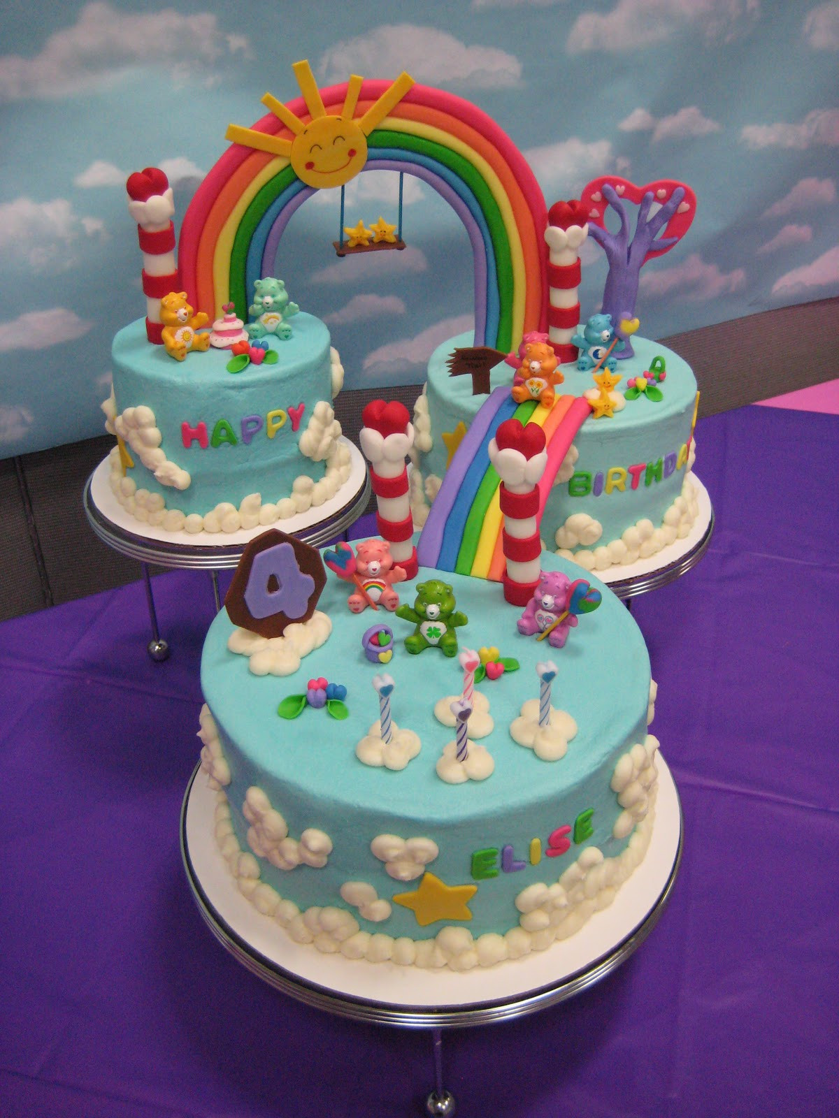 Bear Birthday Cake  Cricket s Creations Care Bear Cake