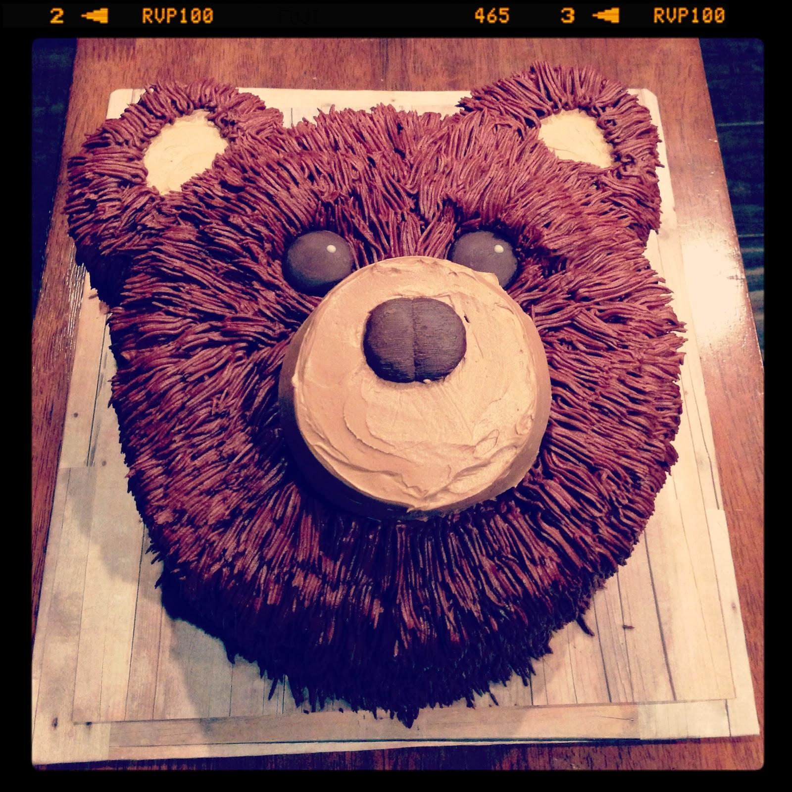 Bear Birthday Cake  3 Little Things Easy Bear Cake