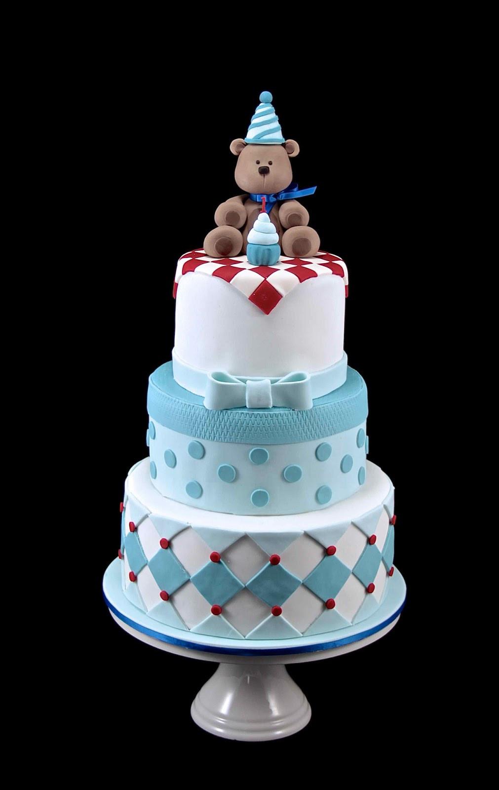 Bear Birthday Cake  Bakerz Dad Teddy Bear Picnic Cake