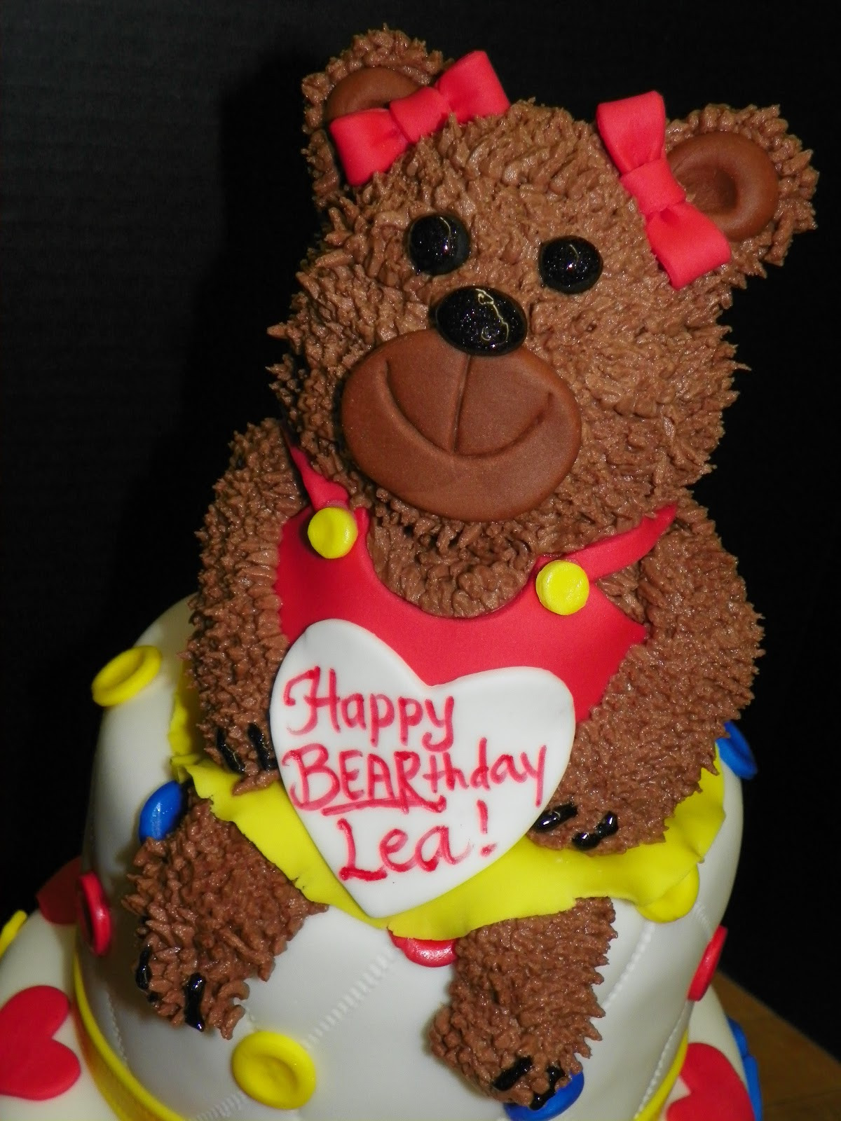 Bear Birthday Cake  Plumeria Cake Studio Build A Bear Birthday Cake