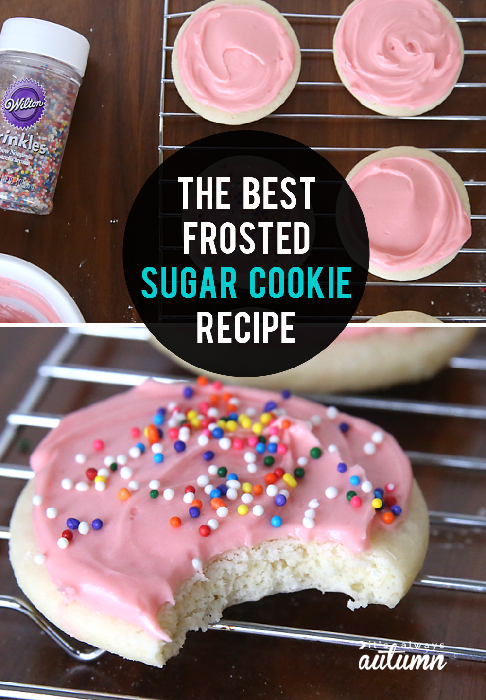 Best Sugar Cookies Recipe  The very best soft sugar cookie cream cheese frosting