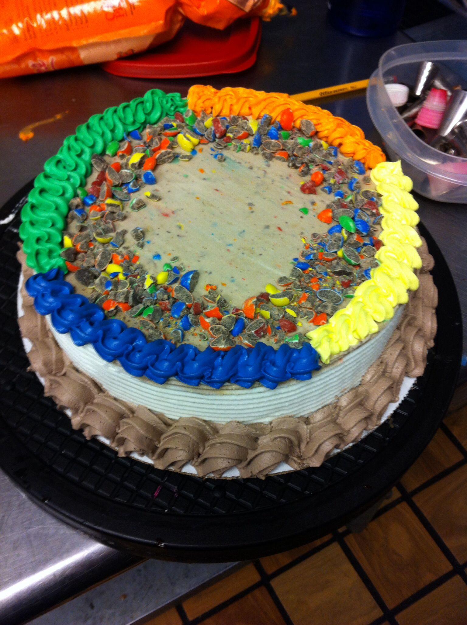 Birthday Cake Blizzard  M&M blizzard cake