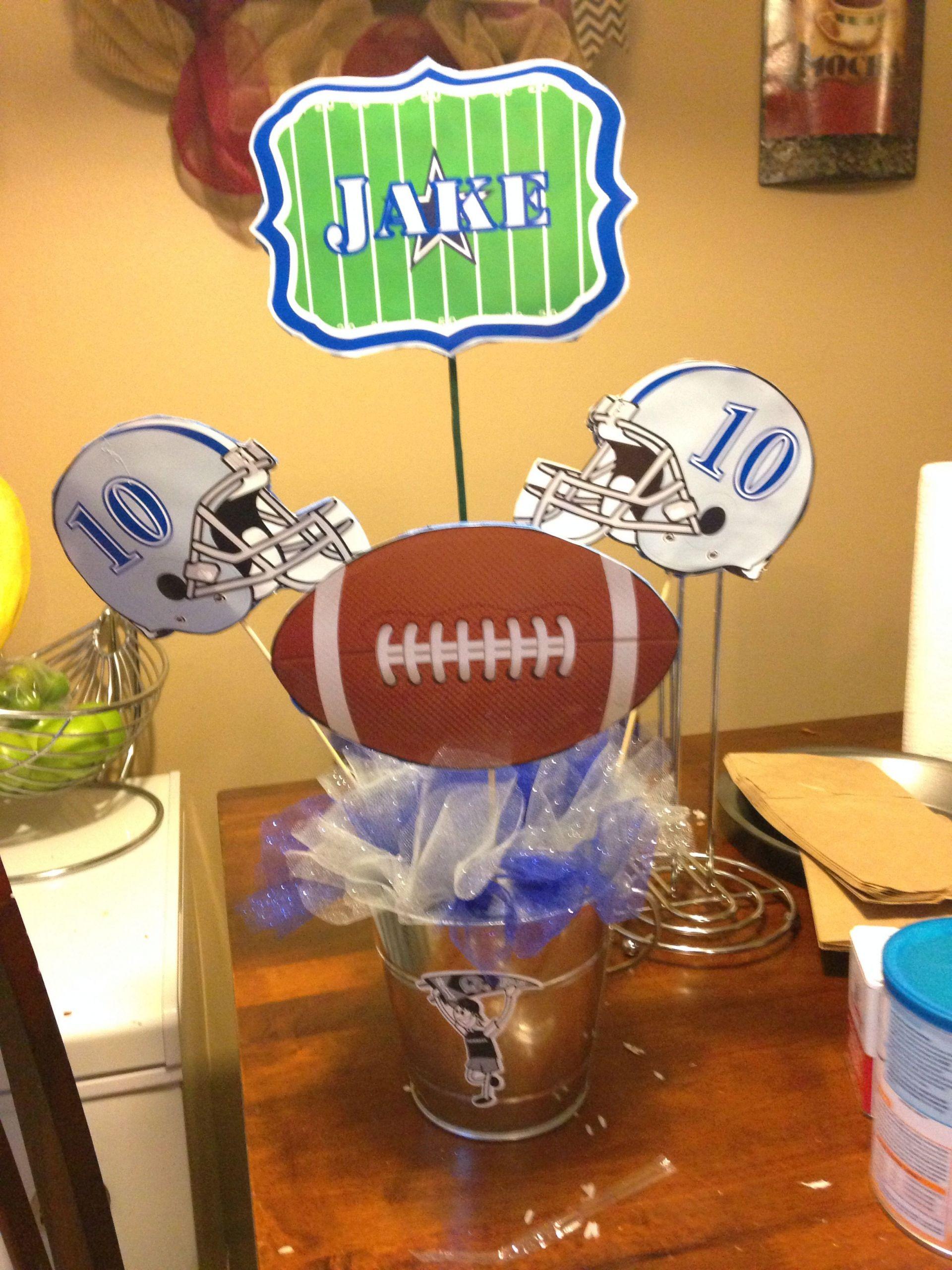 Birthday Party Ideas Dallas  Dallas cowboys birthday table centerpieces