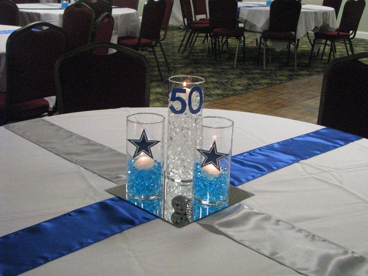 Birthday Party Ideas Dallas  Dallas Cowboy Theme Centerpiece