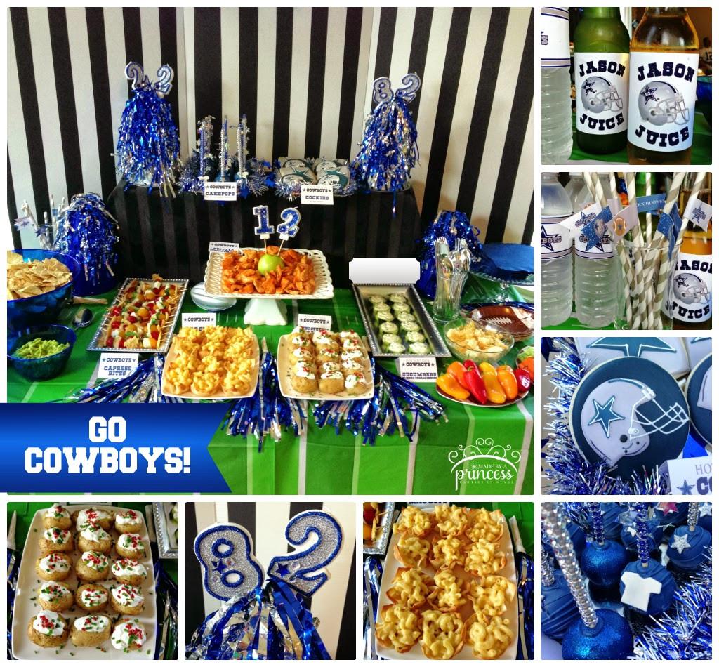 Birthday Party Ideas Dallas  Dallas Cowboy Table Decorations graph