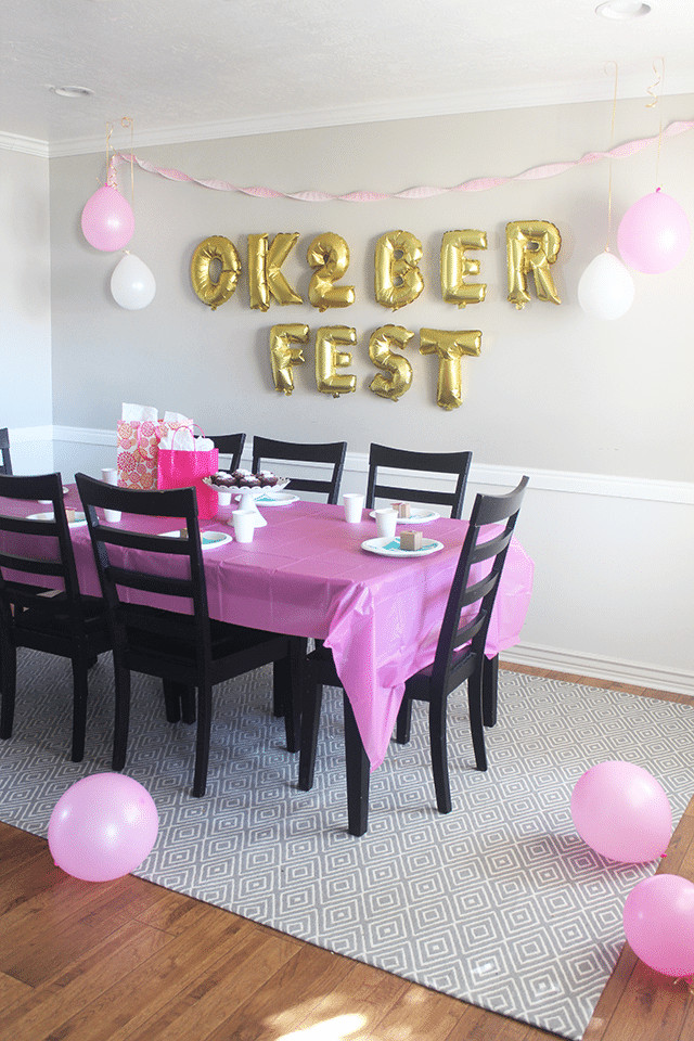 "Birthday Party Ideas For 2 Year Girl  ""Ok 2 berfest"" 2nd Birthday Party So Festive"