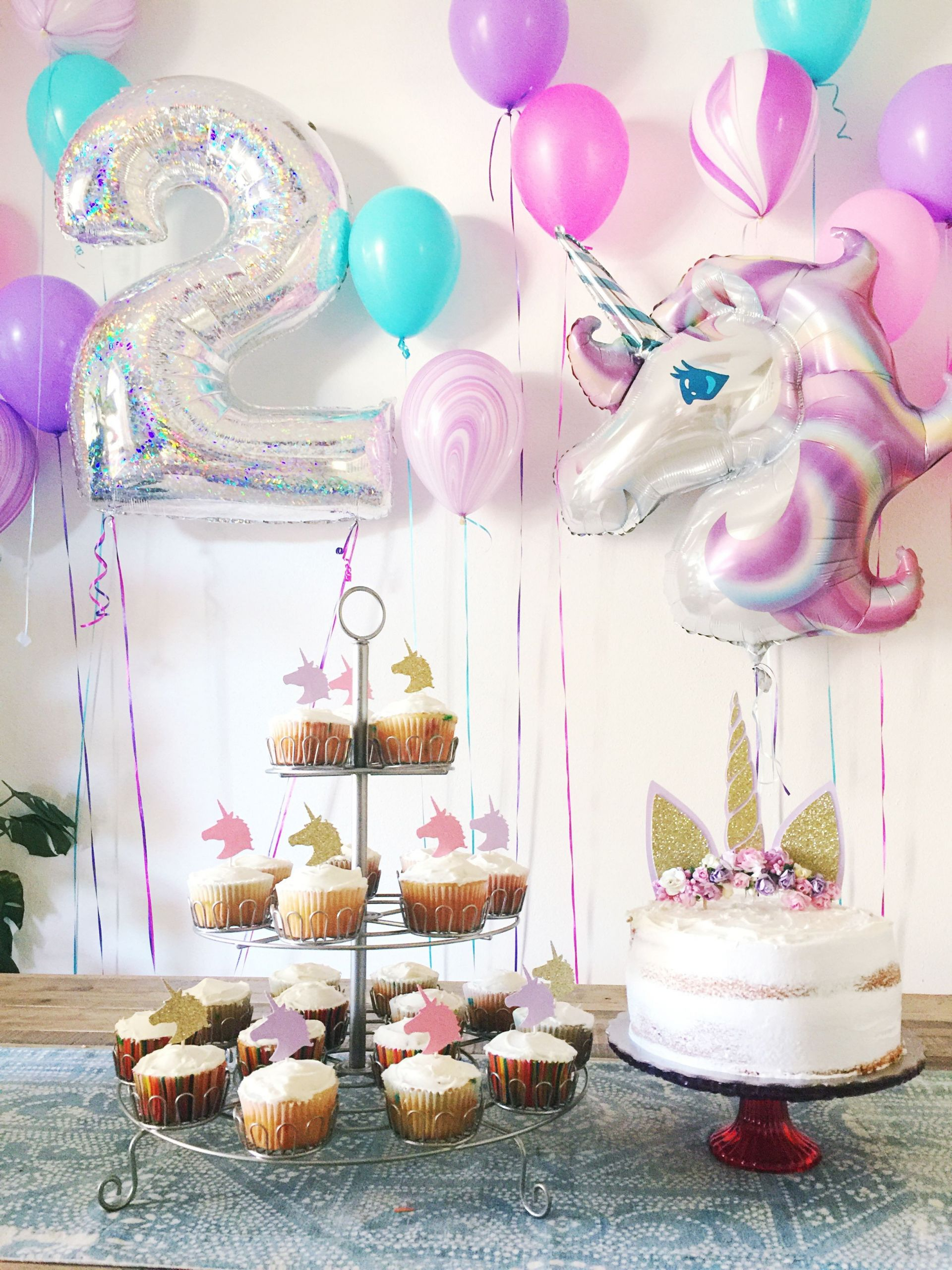 Birthday Party Ideas For 2 Year Girl  2 year old Unicorn Birthday Party With images