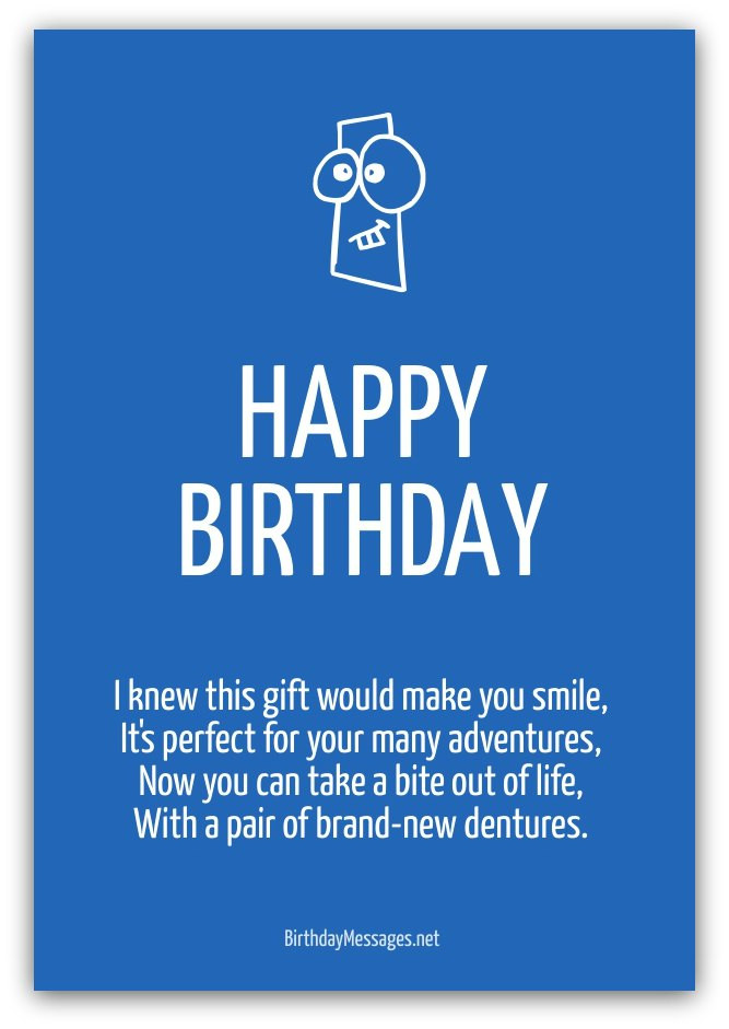 Birthday Poem Funny  Funny Birthday Poems Funny Birthday Messages