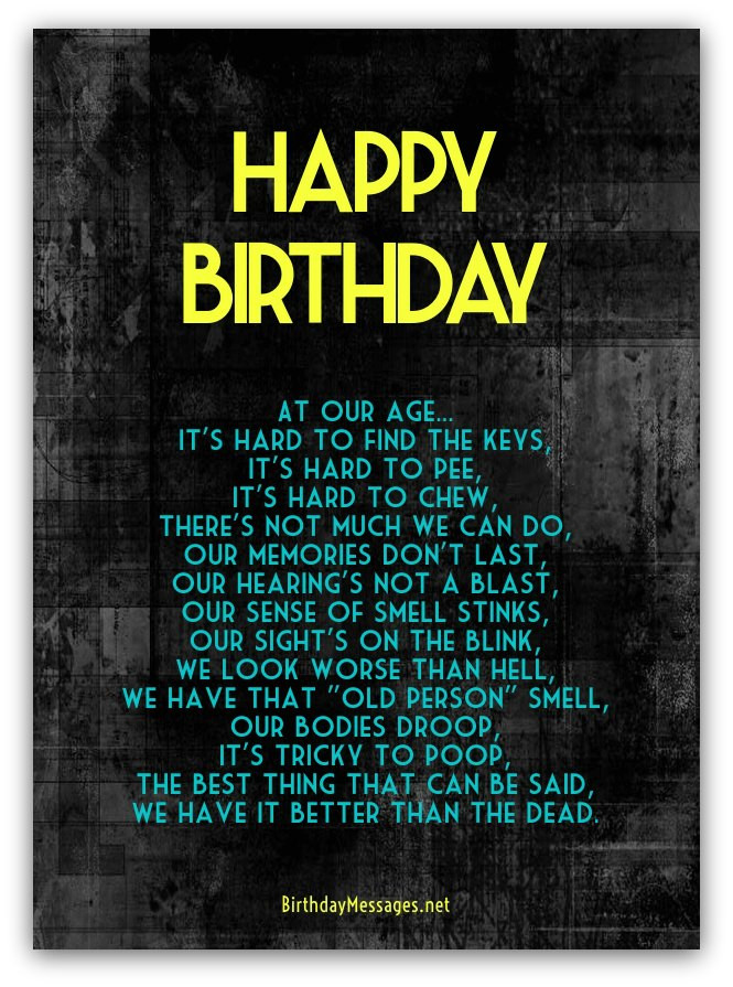 Birthday Poem Funny  Funny Birthday Poems Page 3