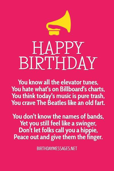 Birthday Poem Funny  Birthday Poems Hundreds of Happy Birthday Poems