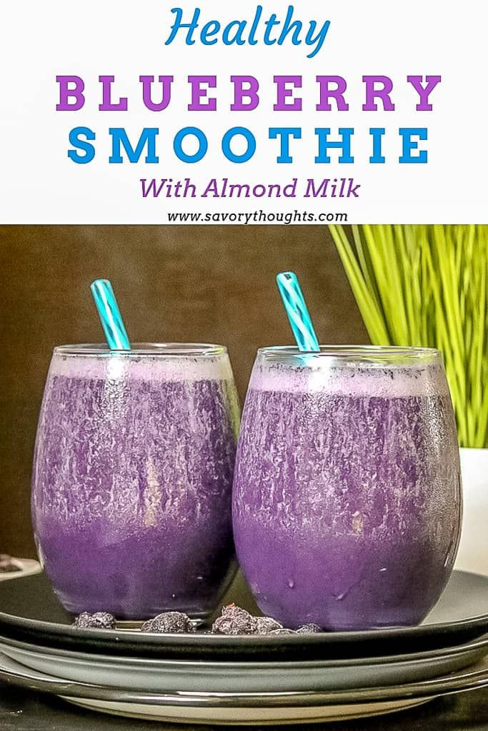 Blueberry Smoothies With Milk  Blueberry Smoothie With Almond Milk Recipe