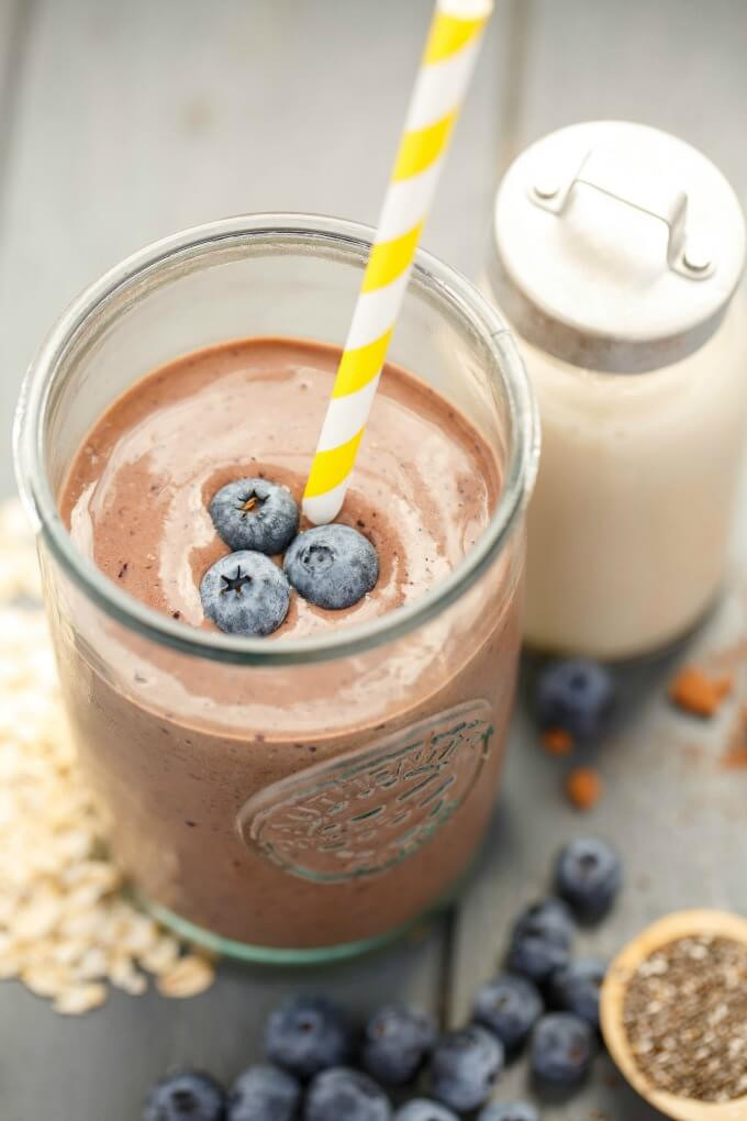 Blueberry Smoothies With Milk  Almond Milk Banana Blueberry Breakfast Smoothie The