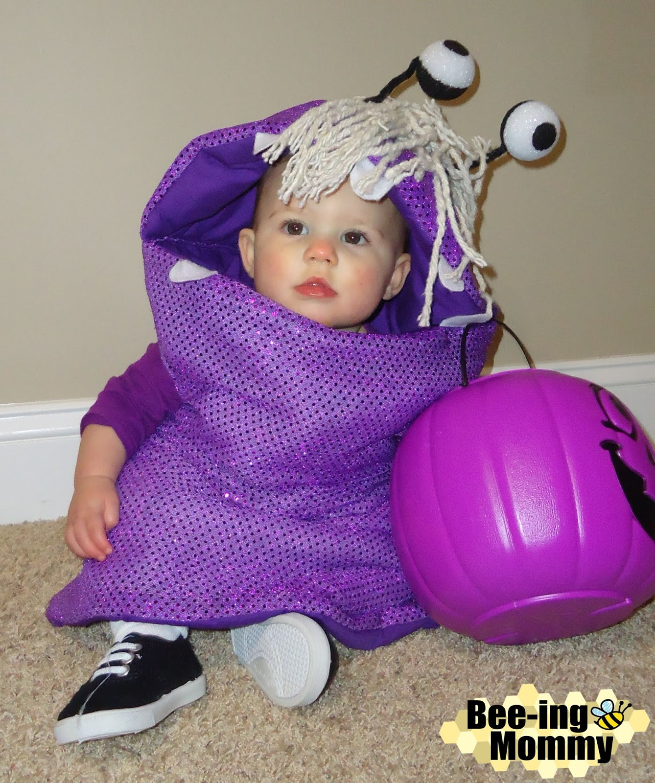 Boo Costume DIY  Monster s Inc Family Costume Mike Sully & Boo