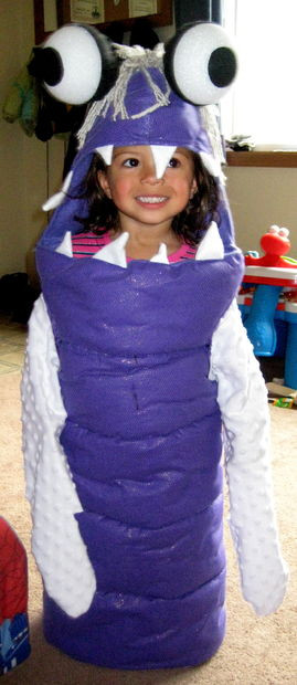 Boo Costume DIY  Boo Costume from Monsters Inc 5
