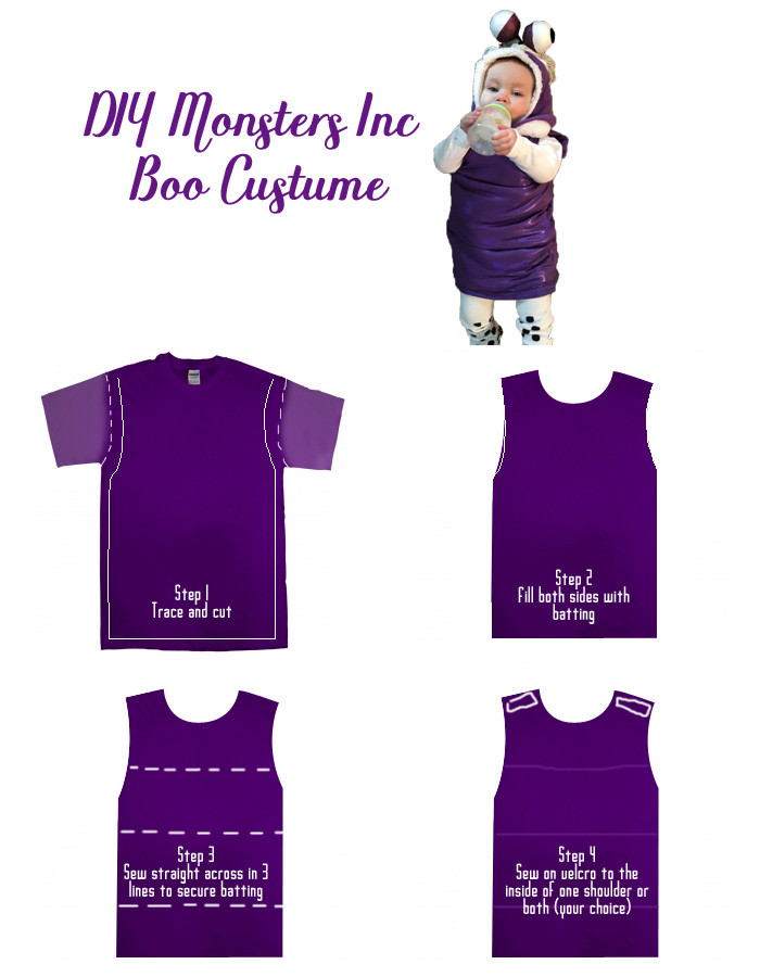 Boo Costume DIY  Polka Dots Love DIY Monsters Inc Boo Costume