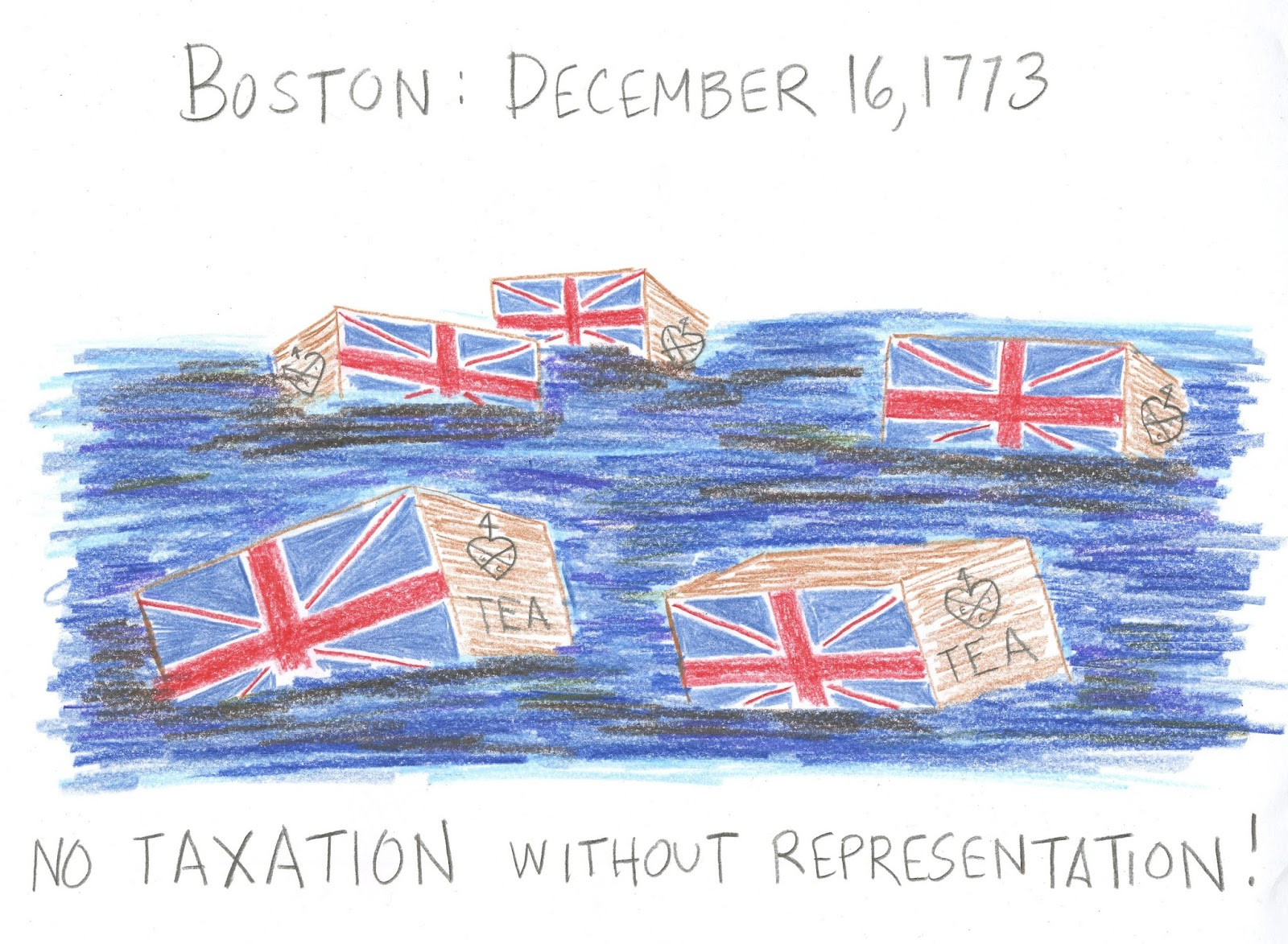 Boston Tea Party Poster Ideas  Cindy deRosier My Creative Life Boston Tea Party Drawing