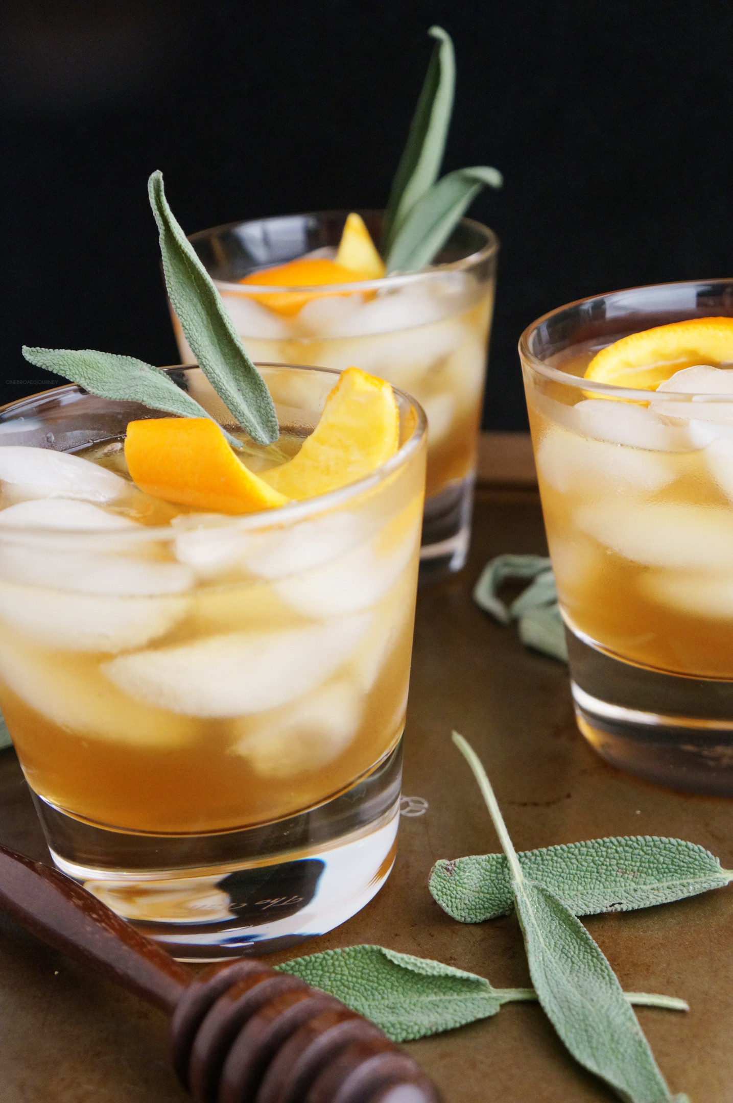 Bourbon Drinks For Winter  Honey Winter Bourbon Cocktail with Honey Sage Syrup e
