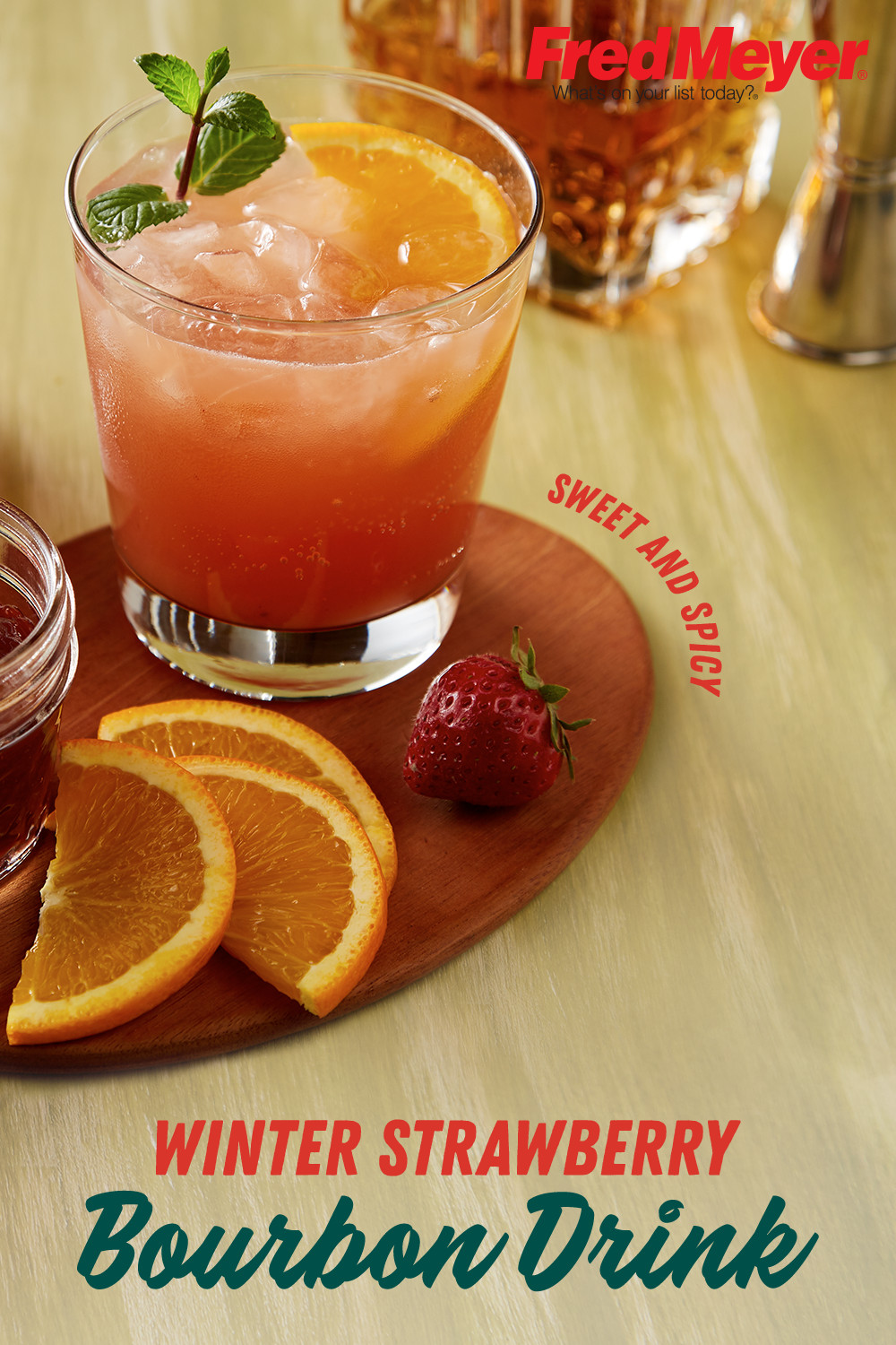 Bourbon Drinks For Winter  Winter Strawberry and Bourbon Drink Recipe