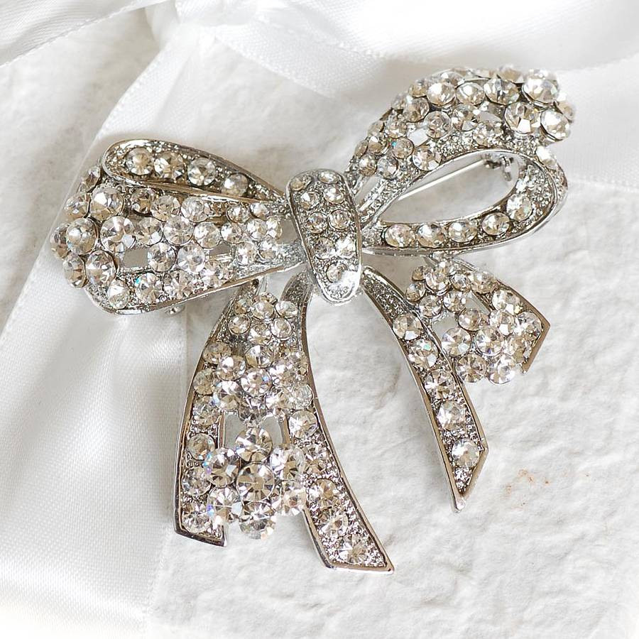 Bow Brooches  vintage style bow brooch by highland angel