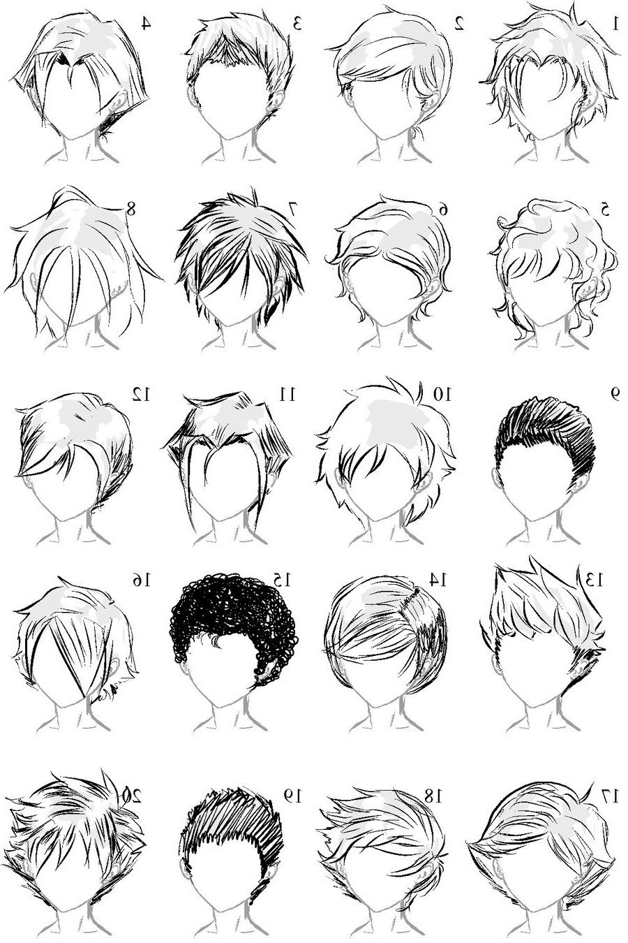 Boy Hairstyles Anime  Male Anime Hairstyles Drawing at PaintingValley
