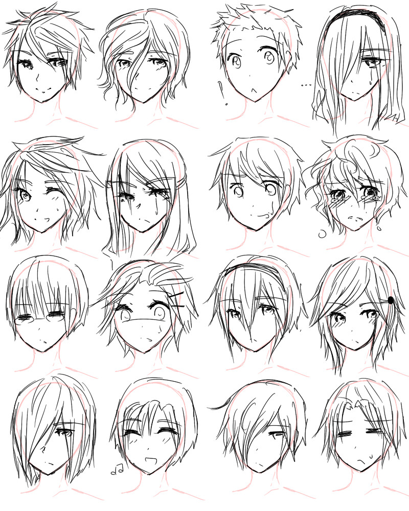 Boy Hairstyles Anime  Boy Hairstyles Drawing at GetDrawings