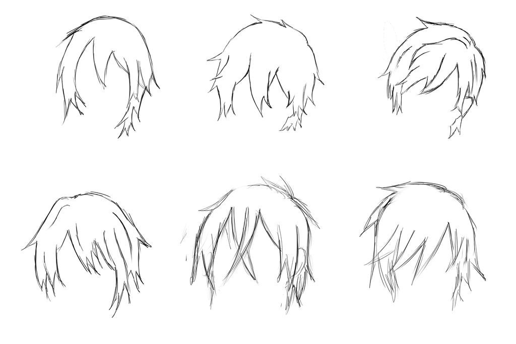 Boy Hairstyles Anime  anime boy hair styles by syanm2 on DeviantArt