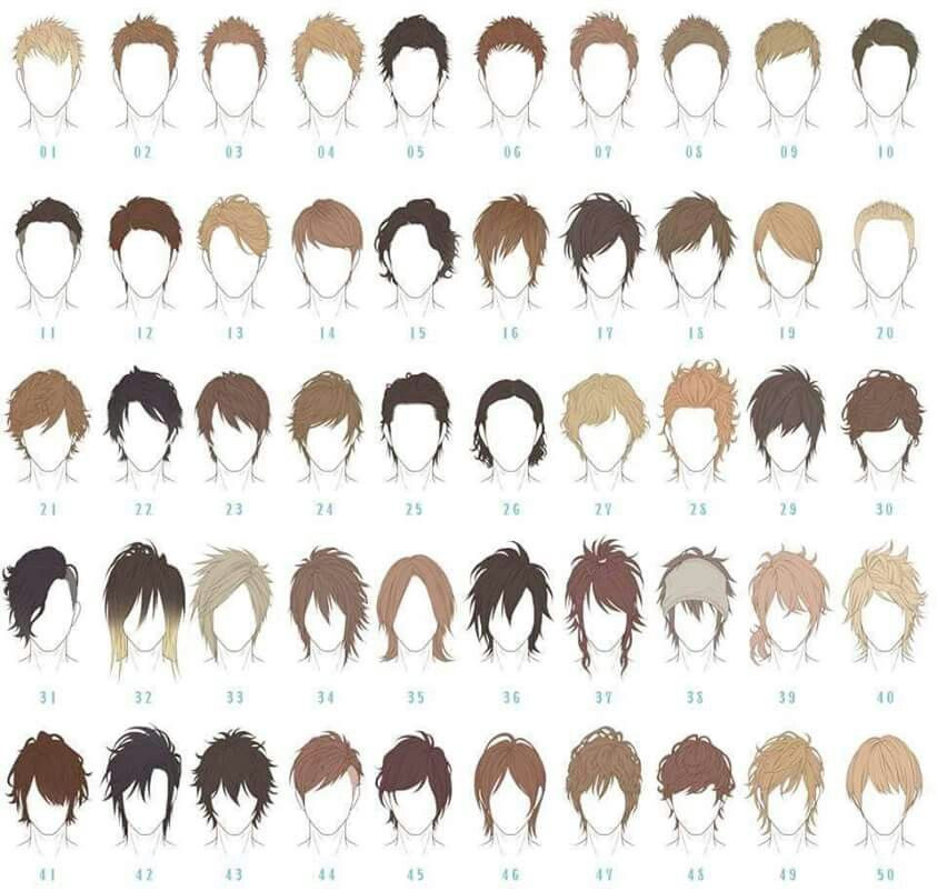 Boy Hairstyles Anime  Male hair reference …