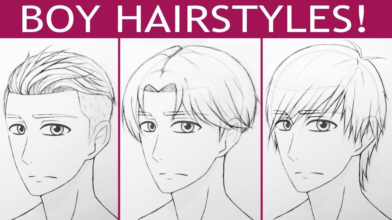 Boy Hairstyles Anime  How to Draw 3 Manga Boy Hairstyles