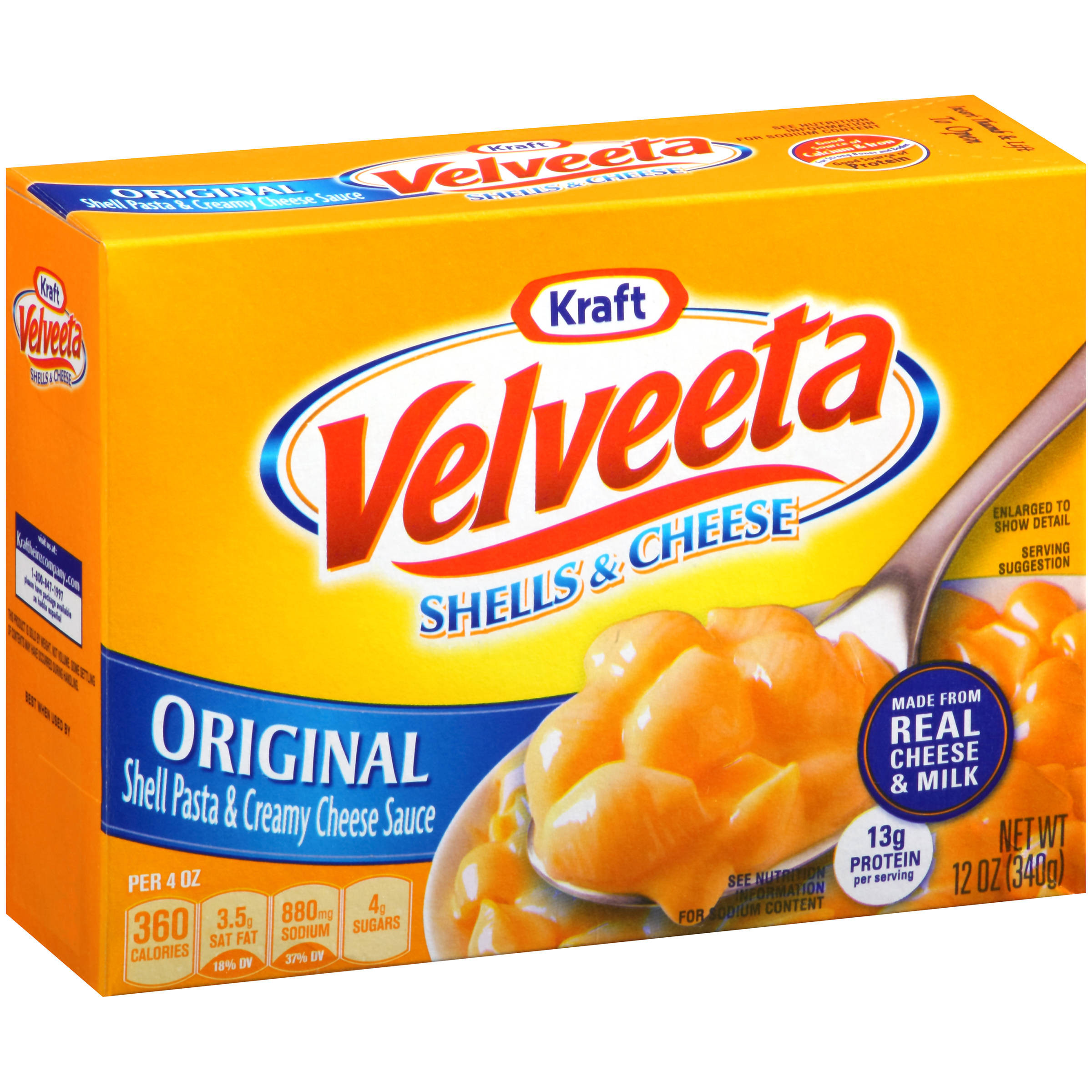 Broccoli And Velveeta Cheese  Kraft Velveeta Rotini & Cheese Broccoli 9 4 OZ Walmart