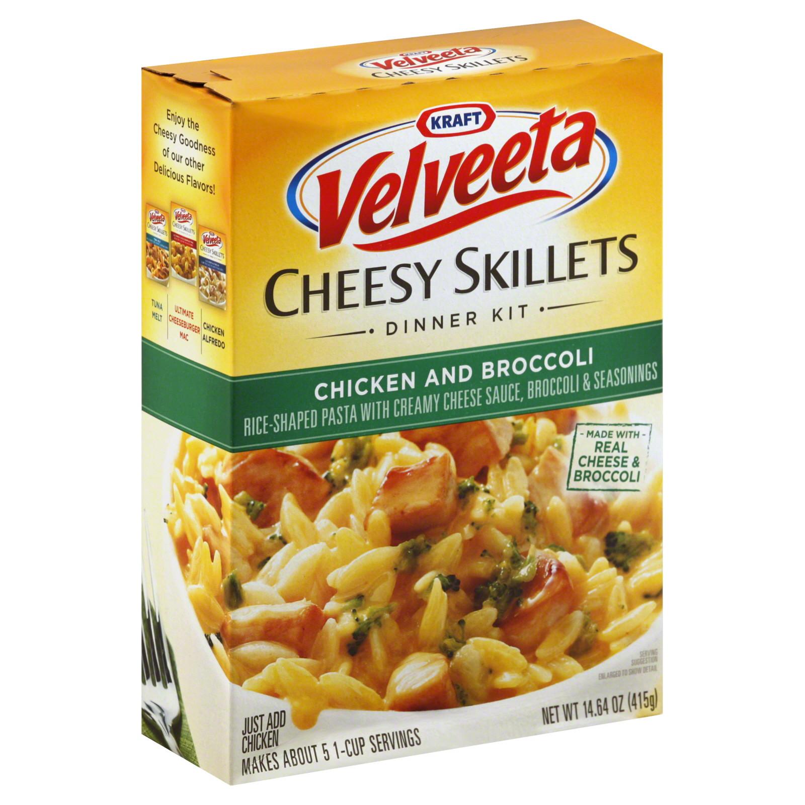 Broccoli And Velveeta Cheese  Velveeta Cheesy Skillets Dinner Kit Chicken and Broccoli