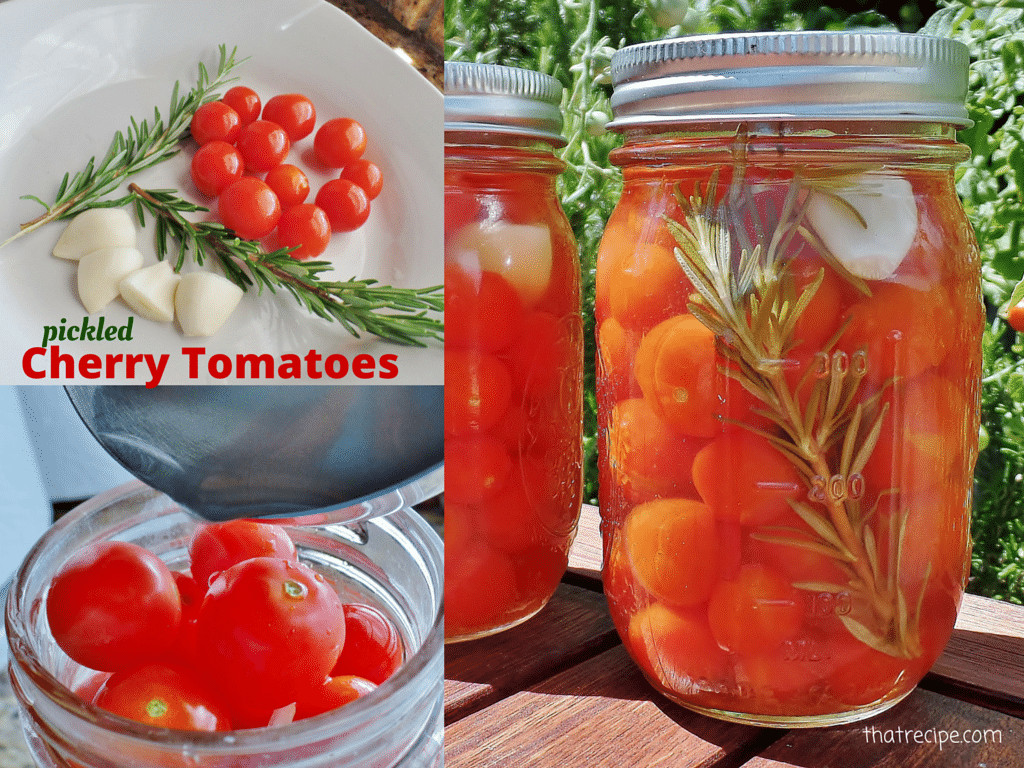 Canning Cherry Tomatoes Recipes  Easy Rosemary and Garlic Pickled Cherry Tomatoes