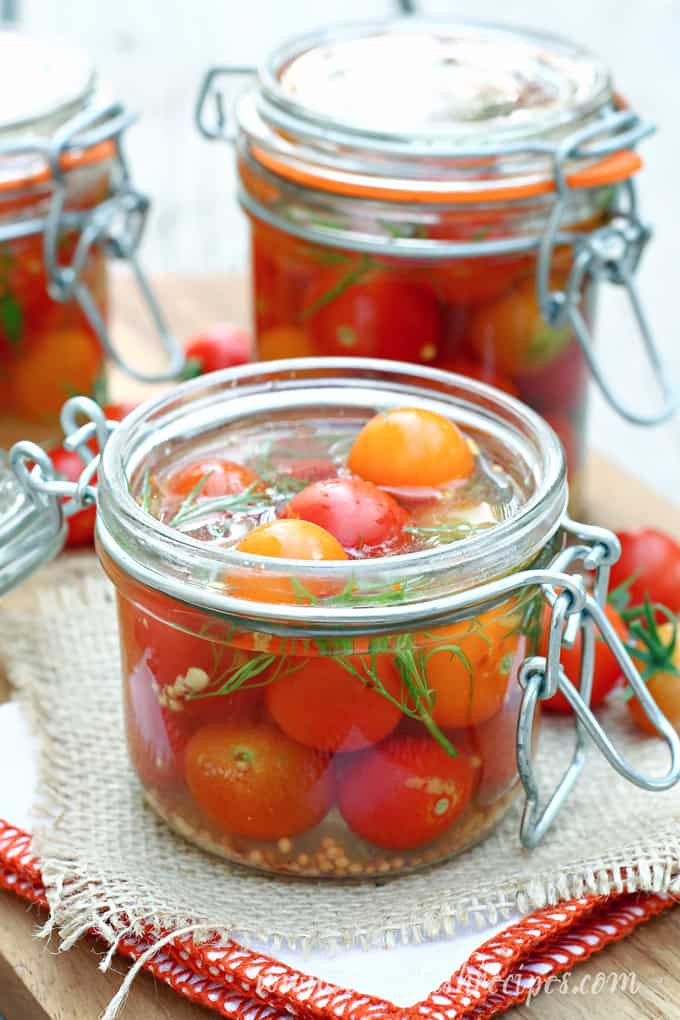 Canning Cherry Tomatoes Recipes  Quick Pickled Cherry Tomatoes