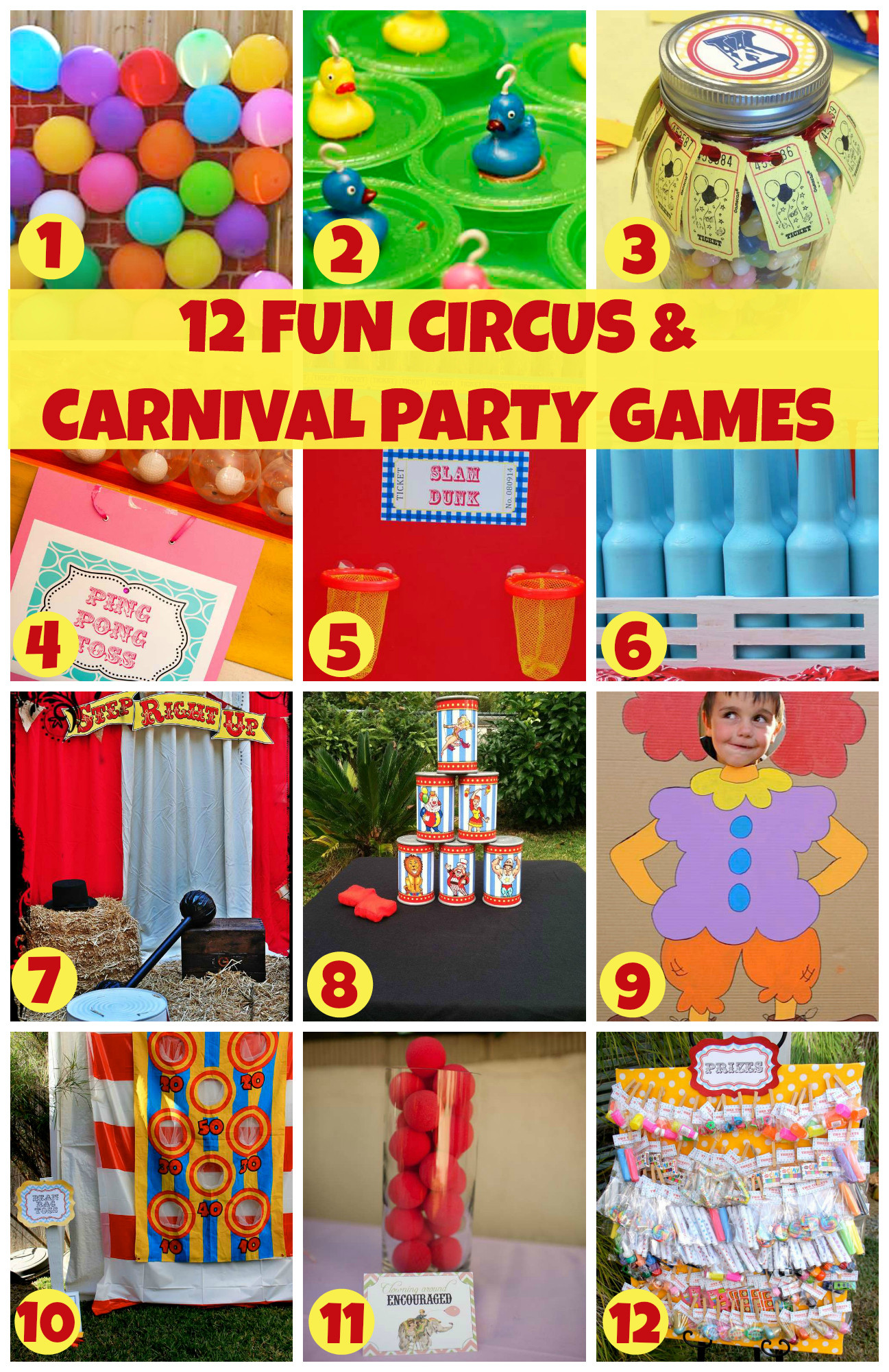 Carnival Kids Party  12 Fun Circus Carnival Party Games