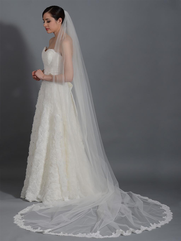 Cathedral Length Wedding Veil  Ivory wedding veil cathedral length V043c