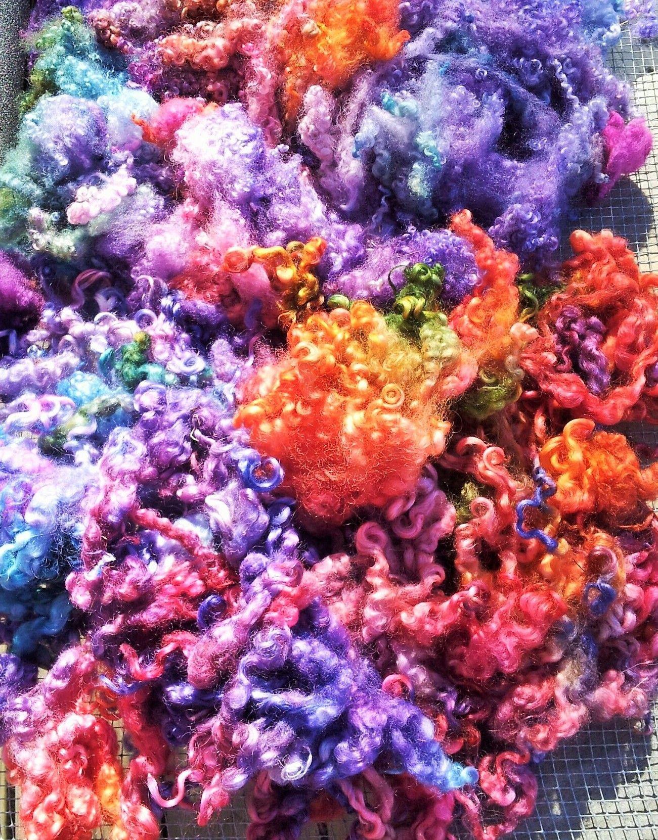 Cauliflower Dietary Fiber  hand dyed fiber