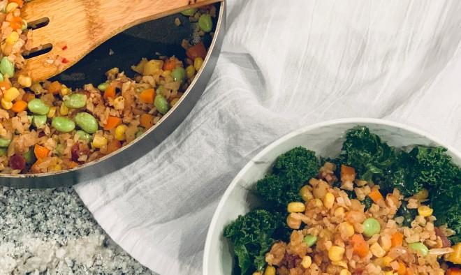 Cauliflower Dietary Fiber  Cauliflower Fried Rice High Fiber Vegan Further Food
