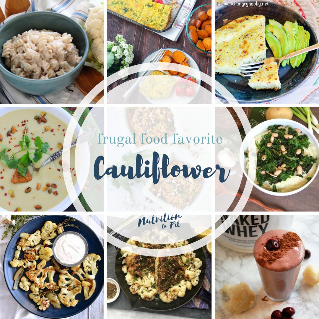 Cauliflower Dietary Fiber  Frugal Food Cauliflower