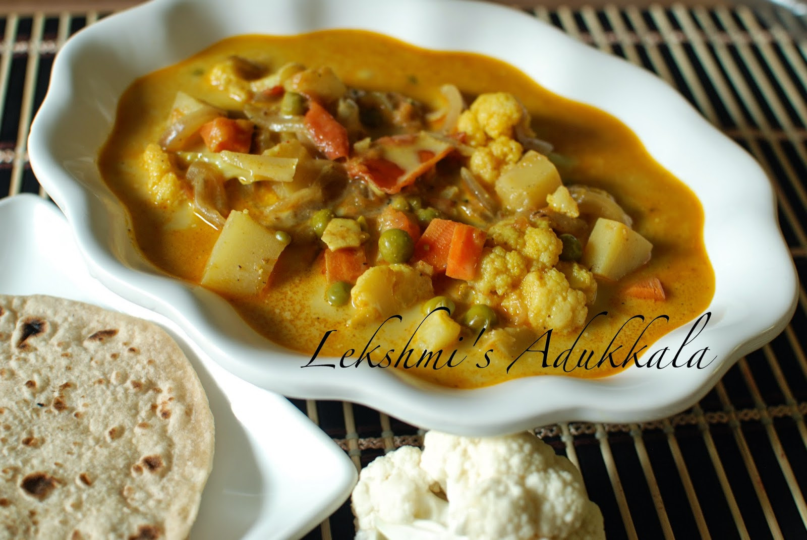 Cauliflower Dietary Fiber  Lekshmi s Adukkala Cauliflower Curry