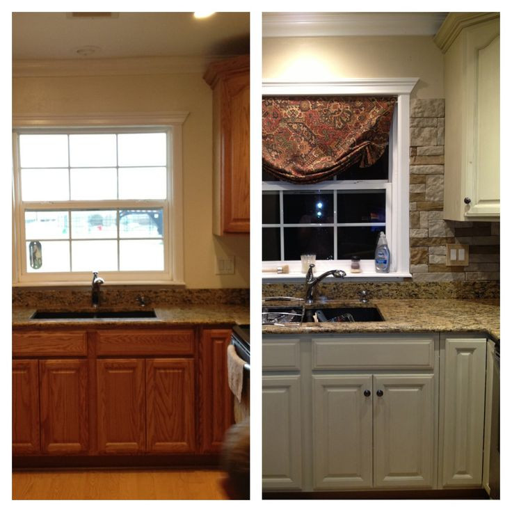 Chalk Paint Kitchen Cabinets Before And After  My Kitchen update Annie sloan chalk paint on cabinets