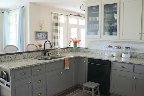 Chalk Paint Kitchen Cabinets Before And After  Why I Repainted my Chalk Painted Cabinets Sincerely Sara D