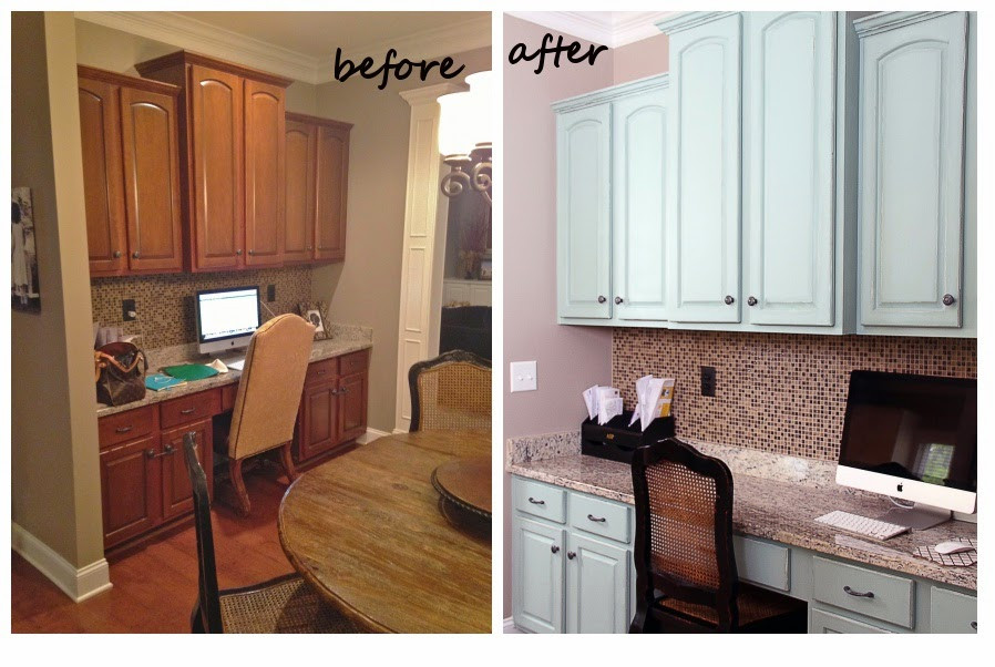 Chalk Paint Kitchen Cabinets Before And After  Cabinet Refinishing 101 Latex Paint vs Stain vs Rust