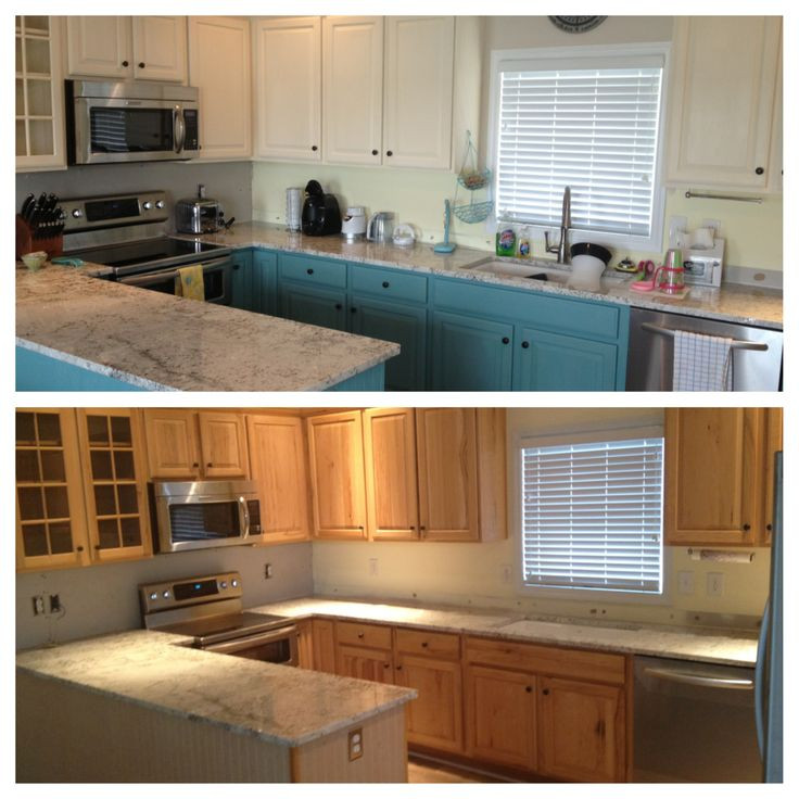 Chalk Paint Kitchen Cabinets Before And After  Pin by Ashton Nobles on beach house