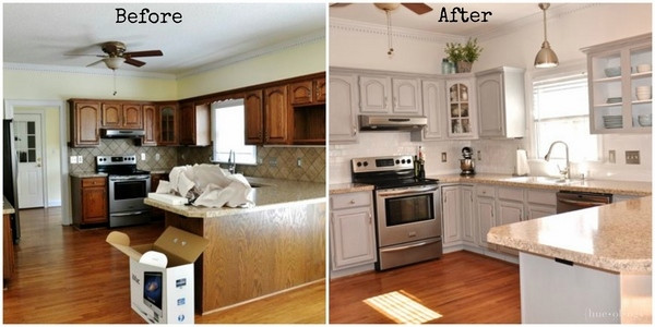 Chalk Paint Kitchen Cabinets Before And After  Chalk paint kitchen cabinets – creative kitchen makeover ideas