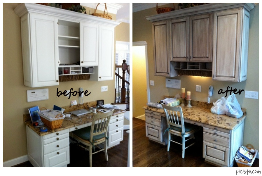 Chalk Paint Kitchen Cabinets Before And After  Painted Cabinets Nashville TN Before and After s