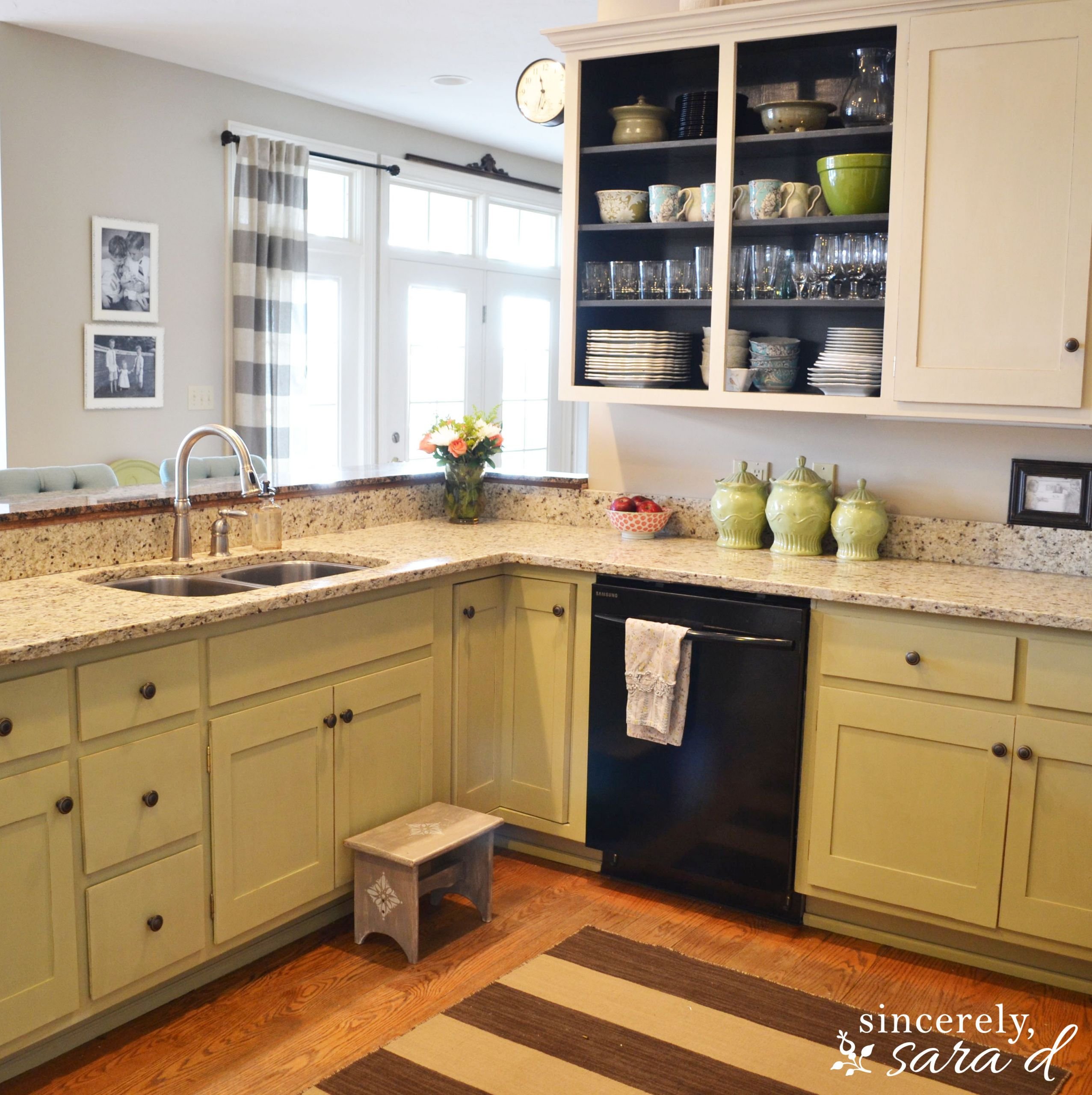 Chalk Paint Kitchen Cabinets Before And After  Painting Kitchen Cabinets with Chalk Paint Update